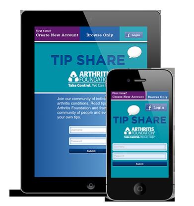 TipShare Arthritis Foundation App